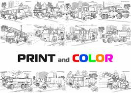 Coloring Firetrucks Coloring Book Truck Coloring Pages Firetruck ...