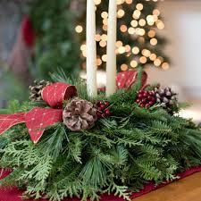 Pine Cone Christmas Tree Centerpiece by Winter Harbor Holiday Centerpiece Fresh Centerpiece