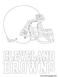 Print Cleveland Browns Logo Football Sport Coloring Pages