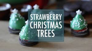 Rice Krispie Christmas Trees Recipe by Chocolate Covered Strawberry Christmas Trees Youtube