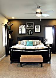 Master Bedroom With Dark Grey Accent Wall Light Walls Furniture And Fun