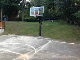The Pro Dunk Platinum Basketball Hoop Seemingly Sits In The Valley ... Backyard Basketball Court Multiuse Outdoor Courts Sport Sketball Court Ideas Large And Beautiful Photos This Is A Forest Green Red Concrete Backyard Bar And Grill College Park Go Green With Home Gyms Inexpensive Design Recreational Versasport Of Kansas 24x26 With Canada Logo By Total Resurfacing Repairs Neave Sports Simple Hoop Adorable Dec0810hoops2jpg 6 Reasons To Install Synlawn Small Back Yard Designs Afbead