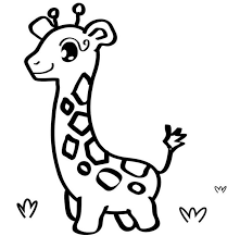 Giraffe With Small Board Coloring Pages For Kids Printable Giraffes
