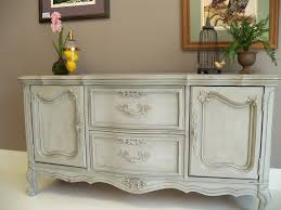 French Provincial Buffet Painted With Annie Sloan Chalk Paint In Paris Grey A Linen