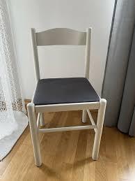 2 x esszimmer stühle esstisch stuhl weiß grau holz holzstuhl wohn