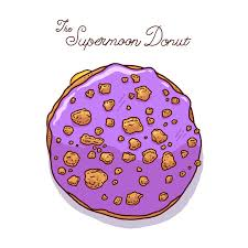 supermoon donut illustration 1