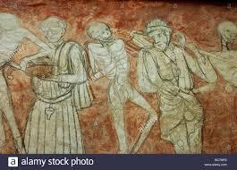 abbaye de la chaise dieu fresco la danse macabre l abbaye de la chaise dieu la haute loire