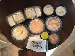 Olive Garden 4 Entrees 2 Soups Salads 4 Breadsticks & Kids
