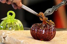Glass Blown Pumpkins Seattle by See Gorgeous Glass Gourds At The Schack Through Sept 25