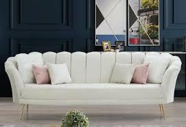 casa padrino designer deco wohnzimmer 3er sofa creme gold 190 x 60 x h 85 cm deco wohnzimmer möbel