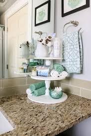 diy farmhouse three tier stand für badezimmer arbeitsplatte
