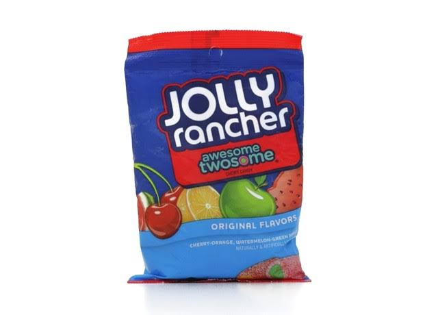 Jolly Rancher Chews Awesome Twosome Candy - Cherry-Orange and Watermelon-Green Apple, 6.5oz