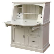 Small White Corner Desk Uk by Rustic White Wooden Computer Desk With Storage And Drawers With