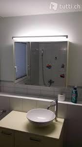 spiegelschrank und waschbecken mit unterbau in wallis