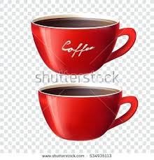 Tea Cup Transparent Background Red On Vector No