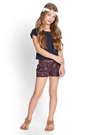 tribal print woven shorts kids forever21 girls 2000087773