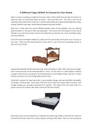 Types Of Beds by 4 Different Types Of Bed To Choose For Your Home