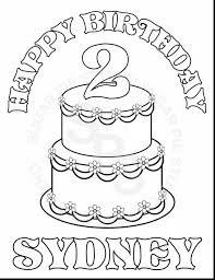 Great Birthday Cake Printable Coloring Pages With Page And