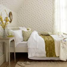 Charming Bedroom With Floral Wallpaper