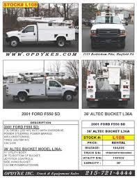 100 Rent A Bucket Truck Opdyke Inc Specialized S Equipment Als