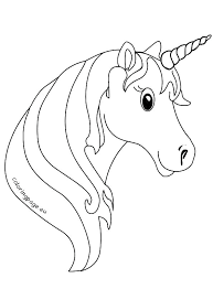 Unicorn Coloring Pages Adorable Cartoon Unicorn Coloring Page
