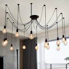 edison chandelier morden creative edison light bulbs pendant light