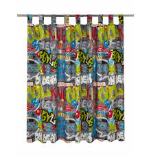 Lined Curtains For Bedroom by Boys Cool Graffiti Bedroom Curtains Drop 54 U0027 U0027 Amazon Co Uk