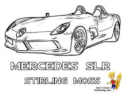 Mercedes SLR McLaren Stirling Moss Cool Car Coloring Page 3 4 View At