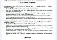Elementary Teacher Resume Example For A Examples 2013 144