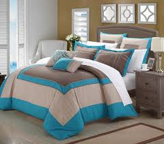 Beige Brown And Teal Bedroom Decorating Restful Blue And Teal And