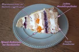 pfirsich brombeer mascarponecremé torte