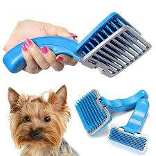 Horse Hair Shedding Tool by Hair Brush With Button Promotion Shop For Promotional Hair Brush