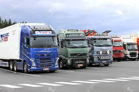 FORSSA, FINLAND - AUGUST 25, 2017: Colorful Volvo Trucks Parked ... San Francisco Food Trucks Off The Grid Yard On Mission Rock Truck Rentals And Leases Kwipped 2017 Kalmar Ottawa T2 Yard Truck Utility Trailer Sales Of Utah Used Parts Phoenix Just And Van Ottawa Jockey Best 2018 Forssa Finland August 25 Colorful Volvo Fh Trucks Parked 1983 White Road Xpeditor Z Yard Truck Item A5950 Sold T 2008 Mack Le 600 Hiel Packer Garbage Rear Load Refurbishment Eagle Mark 4 Equipment Co Kenworth T880 Concrete Mixer With Mx11 Engine To Headline World China Whosale Aliba