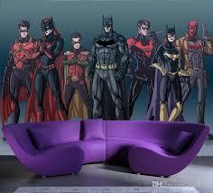 großhandel comics batman wallpaper benutzerdefinierte 3d wandbild wasserdichte silk fototapete kinder jungen schlafzimmer zimmer dekor wohnzimmer