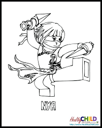 Full Image For Lego Ninjago Coloring Pages Kai Zx Nya Kids