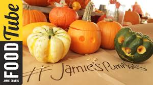 Best Way To Carve A Pumpkin Youtube by Baked Pumpkin Vegetables Recipes Jamie Oliver Recipes