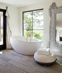 bathroom free standing bathtub in the modern bathroom plan