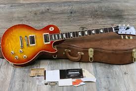 100 Gibson Custom Homes Minty 2014 Shop Les Paul 1960 60s Reissue Washed Cherry Sunburst W COAOHSC