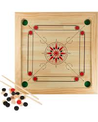 Carrom Board Game Classic Strike And Pocket Table By Hey Play