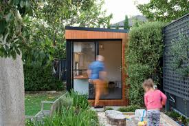 These Prefabricated Backyard Offices Are Incredible - Airows 14 Inspirational Backyard Offices Studios And Guest Houses Best 25 Office Ideas On Pinterest Outdoor Garden Shed Inhabitat Green Design Innovation Architecture Awesome Modern Office Fniture Simple Full Prefab The Combs Family Opted For Two Modernsheds Cluding This 12 By Interface Spacehome Trends Great The Images Interior Decor Great 18 Sheds For Your Allstateloghescom Pods Workspaces Made Image Why Home Should Be In Studio Kid Work Area Music