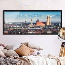 gerahmte bilder fürs schlafzimmer im echtholz rahmen