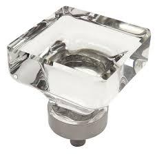Houzz Bathroom Vanity Knobs by Cosmas Clear Satin Nickel Glass Cabinet Knobs Cup Pulls U0026 Hinges
