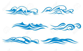 Wave clipart vector 2