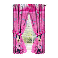 Mickey Mouse Bedroom Curtains by Amazon Com Disney Minnie Mouse Window Panels Curtains Drapes Pink
