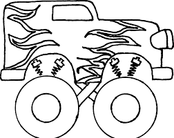19 Monster Truck Banner Library Library Black And White HUGE FREEBIE ...
