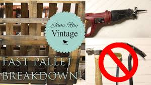 How To Take Apart A Pallet The EASY WAY