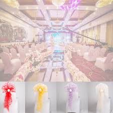 Chair Sash Bow Elastic Chair Ribbon Back Tie Bands Flower Sashes Tulle For  Wedding Party Ceremony Banquet Decoration Chair Covers For Hire Living Room  ... Chair Covers And Sashes Pink Tie Online White Arch Lycra Chair Cover Purchase Lycra 170gsm Easyslip Modern Plain Color Cover Stretch Elastic Waterproof Spandex Slipcovers Office Generic Fantynes Universal Ding Room Wikipedia 1 Your Budget For Your Wedding Day Weddings In Wales At 2pcs 4060cm Seat Covering Wedding Party Brown Of Lansing Doves In Flight Decorating Celebrations Party Spot Venue Chapel