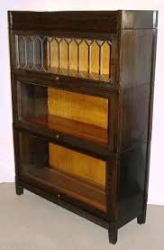 Bookcase Vintage Glass Front Inside Bookcases Decor 17