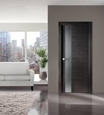 Home Interior Doors Flora 03 Modern Interior Door In Black Apricot Finish