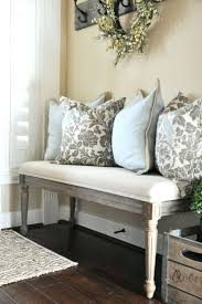 Entryway Bench With Throw Pillows Love Corner Benches For Entryway ... Workspace Pbteen Desk Pottery Barn Office Fniture Entryway A Smallspace Makeover And Small Spaces Best 25 Barn Entryway Ideas On Pinterest Bench Cushion Awesome House Storage System And Shelf Samantha With Mudroom Surprising Table Entrancing Eclectic Console Tables Ideas On